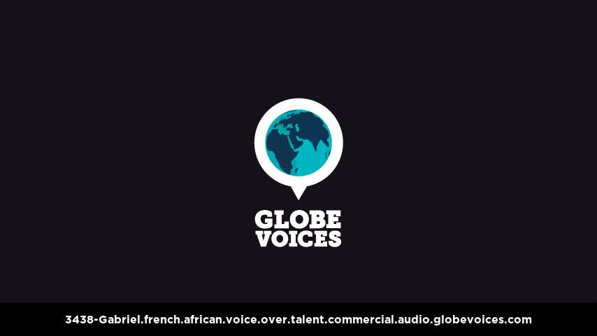 French (African) voice over talent artist actor - 3438-Gabriel commercial