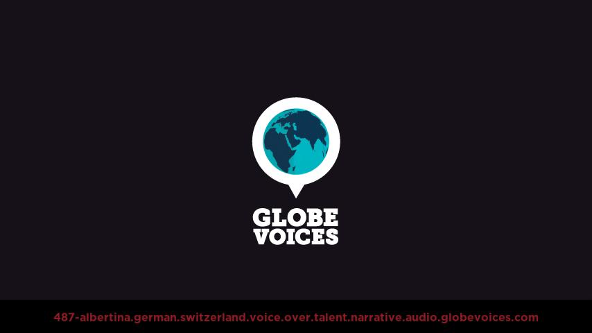 German (Switzerland) voice over talent artist actor - 487-Albertina narrative