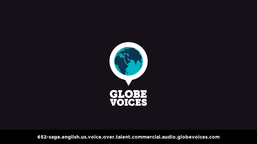 English (American) voice over talent artist actor - 652-Sage commercial