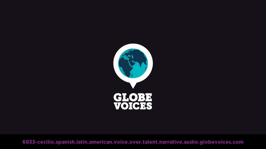Spanish (Latin American) voice over talent artist actor - 6833-Cecilio narrative