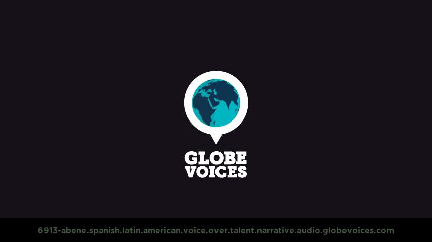 Spanish (Latin American) voice over talent artist actor - 6913-Abene narrative