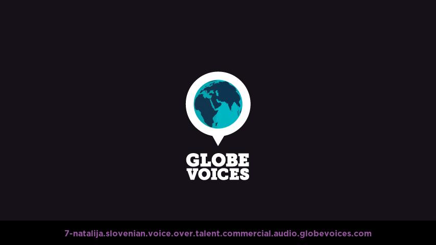 Slovenian voice over talent artist actor - 7-Natalija commercial