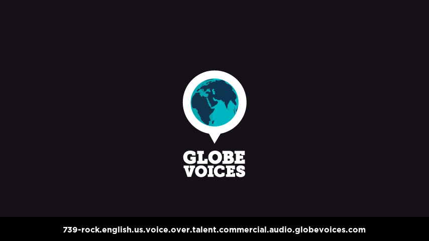 English (American) voice over talent artist actor - 739-Rock commercial