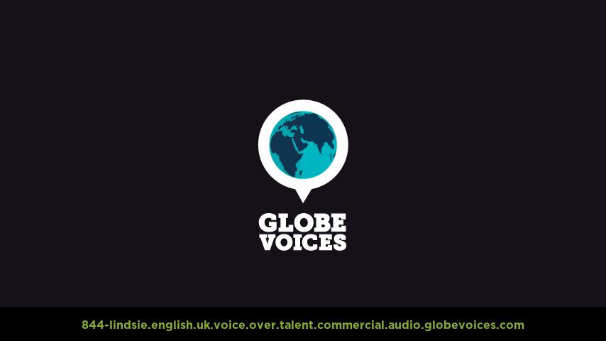 British voice over talent artist actor - 844-Lindsie commercial