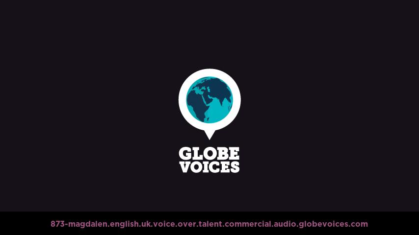 British voice over talent artist actor - 873-Magdalen commercial