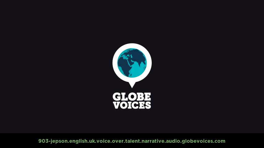 British voice over talent artist actor - 903-Jepson narrative