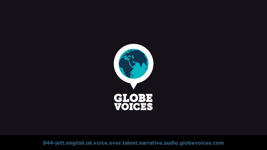British voice over talent artist actor - 944-Jett narrative